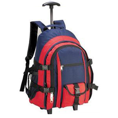 Covered wheel backpack bags